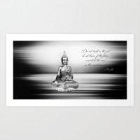 buddha Art Prints featuring Buddha by Fine Art by Rina