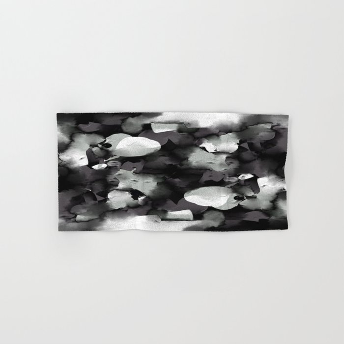 Raw Paint 2 - Black And White Hand & Bath Towel
