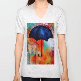 Parapluie by Beth Ann Short Unisex V-Neck