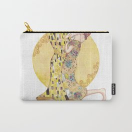"""Lovers"" Based on ""The kiss"" By Gustav Klimt Carry-All Pouch"