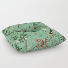 Monkey World Green Floor Pillow