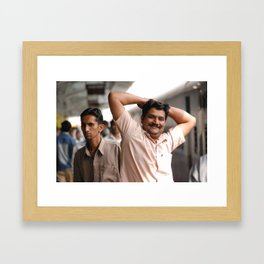 A friendly man at the station Framed Art Print