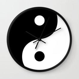 Yin And Yang Sides Wall Clock