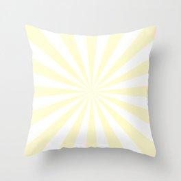 Starburst (Cream/White) Throw Pillow