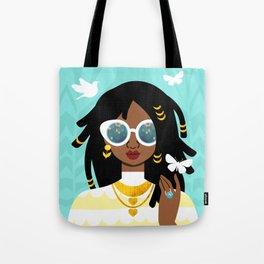 Locs Hairstyle Tote Bag