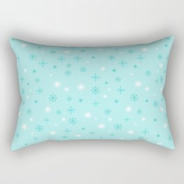 AFE Turquoise Snowflakes Rectangular Pillow