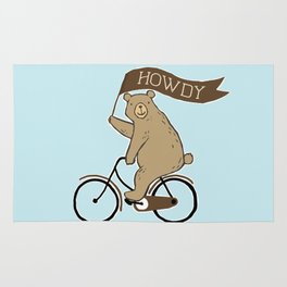 Friendly Neighborhood Bicycle Bear Rug
