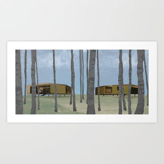 wood pavilion Art Print