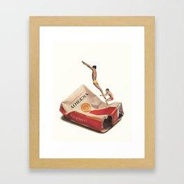 """""""good taste never quits"""" Framed Art Print"""