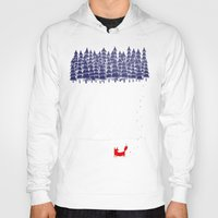red Hoodies featuring Alone in the forest by Robert Farkas