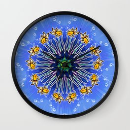 Mandala fishes Wall Clock