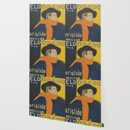 "Henri de Toulouse-Lautrec ""Eldorado: Aristide Bruant"" Wallpaper"
