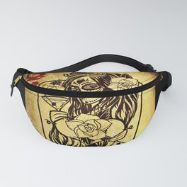 Queen Of Hearts Card Deck Old Fanny Pack
