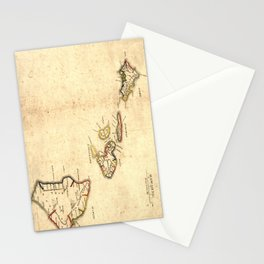 Vintage Map of Hawaii (1837) Stationery Cards