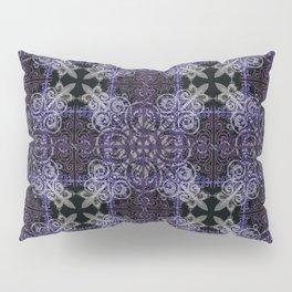Floral07 Purple Black2 Pillow Sham