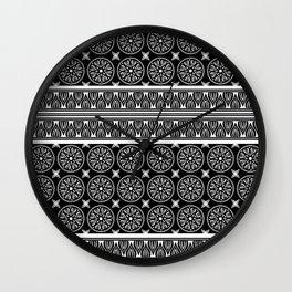African Ethnic Tribal Black Pattern Wall Clock