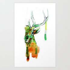 Deerface Art Print