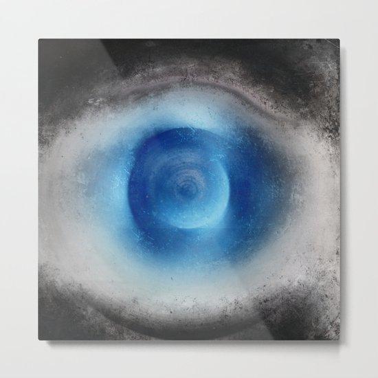 Blue Eye Abstract Metal Print