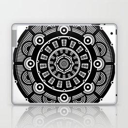 Modern Mandala (Black & White) Laptop & iPad Skin