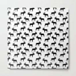 Moose Trot Metal Print