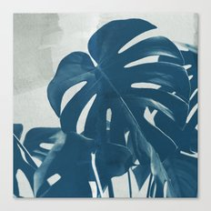 Blue Monstera #2 Canvas Print