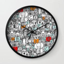 animal ABC Wall Clock