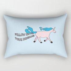 Follow Me To Your Dreams Rectangular Pillow