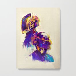 Fanart Painting illustration of daft punk Metal Print