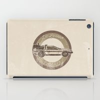marty mcfly iPad Cases featuring Marty McFly's Ride by studiomarshallarts