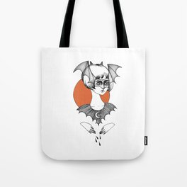 batty witch Tote Bag
