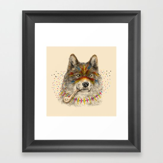 Cherokee Wolf Framed Art Print