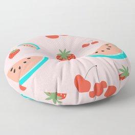 Fruit Salad (Pastel Pink) Floor Pillow