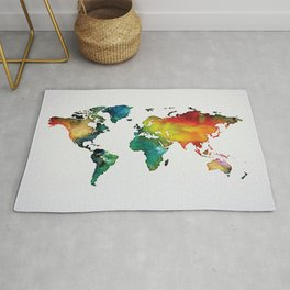 Multicolor World Map 04 Rug