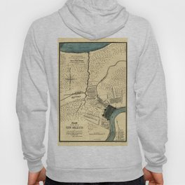 Map Of New Orleans 1798 Hoody