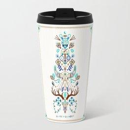 La Vie & La Mort – Turquoise and Brown Travel Mug