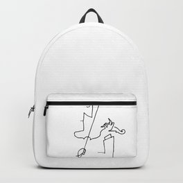 Saul Steinberg Violinist Violin Player American Cartoonist Artwork Reproduction for Prints Posters T Backpack