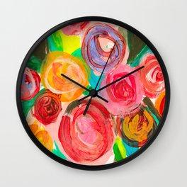 Meadow Blooms Wall Clock