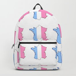 Parody of the french flag 5-France,Paris, pink, Marseille, lyon, Bordeaux,love, girly,fun,idyll,Nice Backpack
