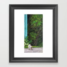 What the Cat Sees By the Hot Glass Studio Hydrangea Framed Art Print