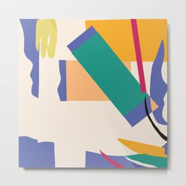 Matisse Inspired Colorful Collage Metal Print