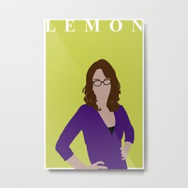 Liz Lemon Portrait | 30 Rock Poster | Tina Fey | Feminist Print | TV Wall Art | Wall Decor Metal Print