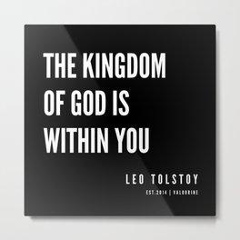 79  | Leo Tolstoy Quotes | 190608 Metal Print