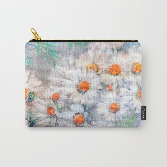 Vintage daisies(4) Carry-All Pouch