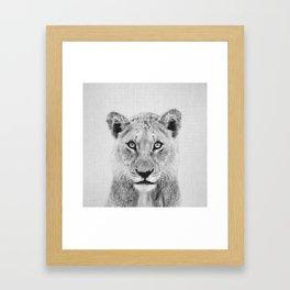 Lioness II - Black & White Framed Art Print