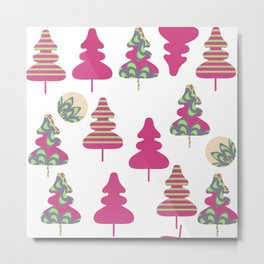 Trees pattern 5W Metal Print