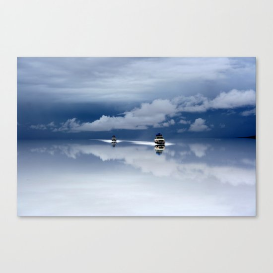 Traveling through the sky Canvas Print