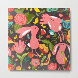 Bunnies in the wild Metal Print