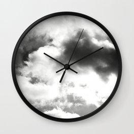 DARK CLOUDS TOUCHING #1 #art #society6 Wall Clock
