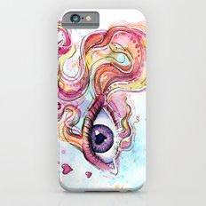 Eye Betta Fish Surreal Animal Hearts Watercolor iPhone 6s Slim Case