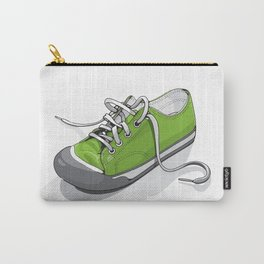 A Green Shoe Carry-All Pouch